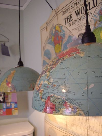 Upcycling a globe into a lamp