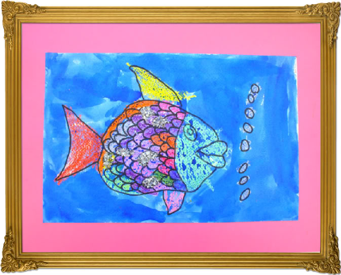 Rainbow Fish {Miss Misty's Art Class}
