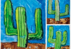 Kids Art: Watercolor Cactus