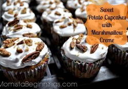 Sweet Potato Cupcakes with Marshmallow Crème {Recipe}