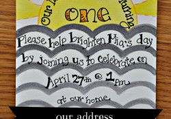Sunshine Birthday Invitations {Handmade}