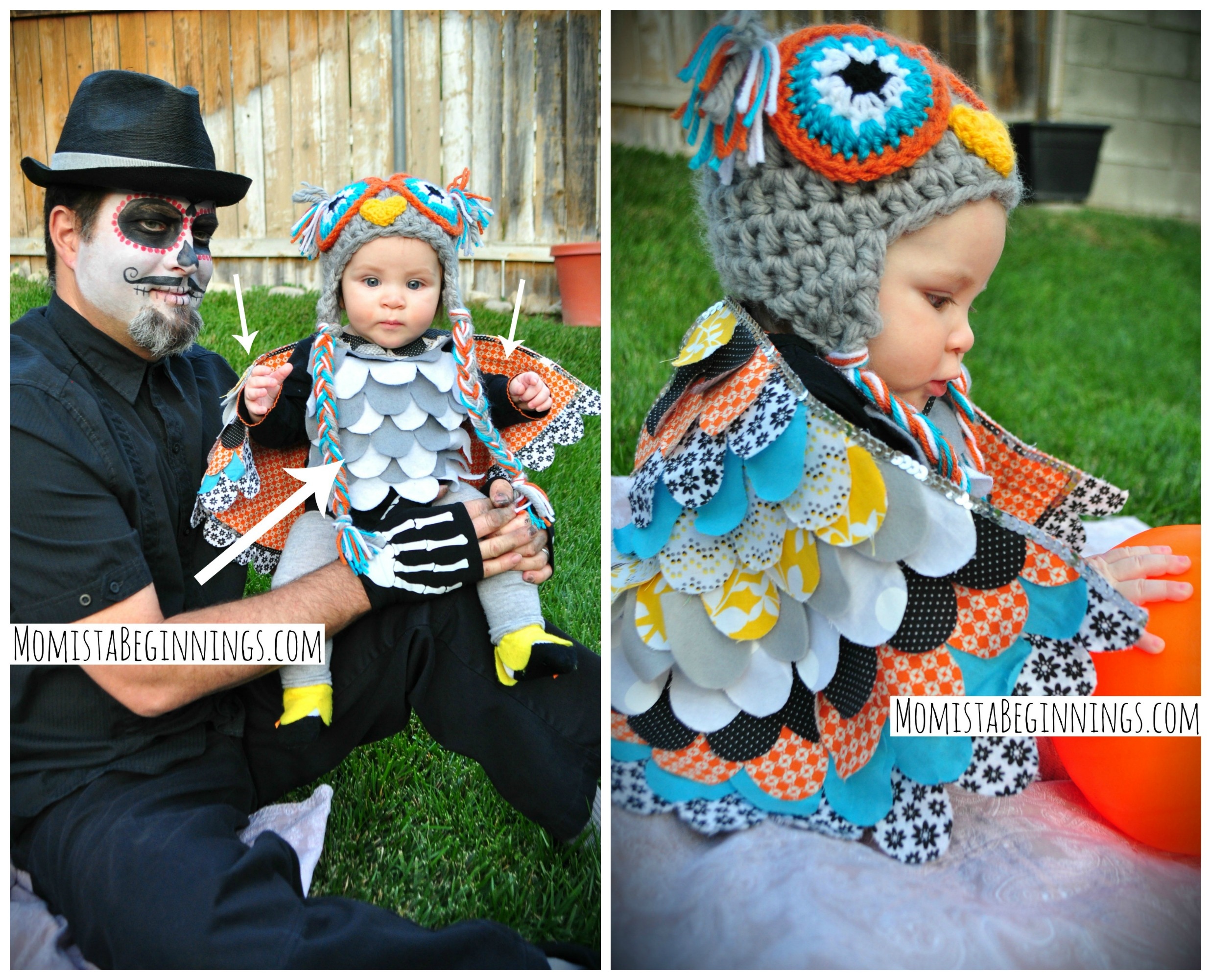 No sew baby owl costume diy momista beginnings owl collage6 solutioingenieria Image collections