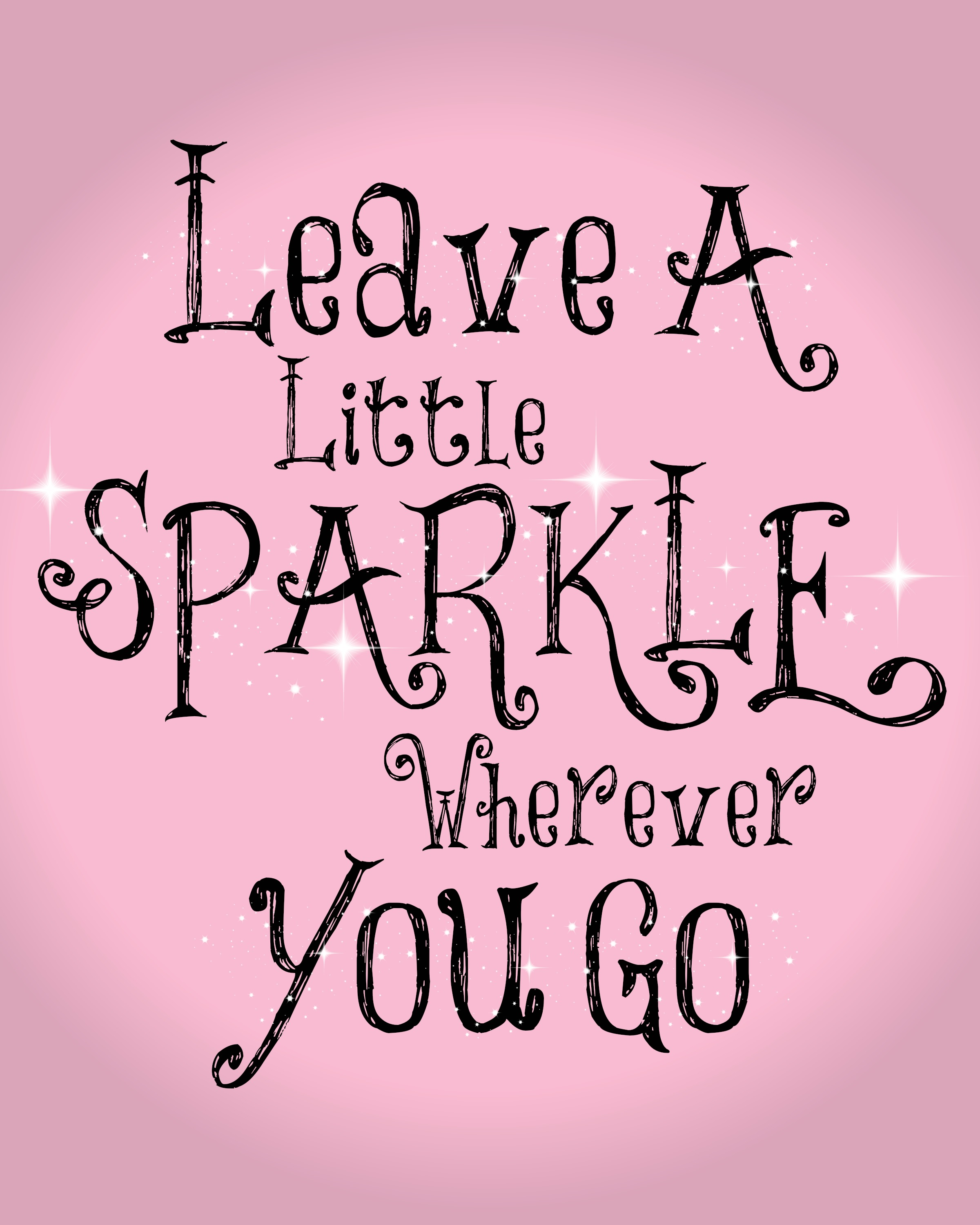 Cute And Inspiring Quotes: Pink Sparkle Quotes. QuotesGram
