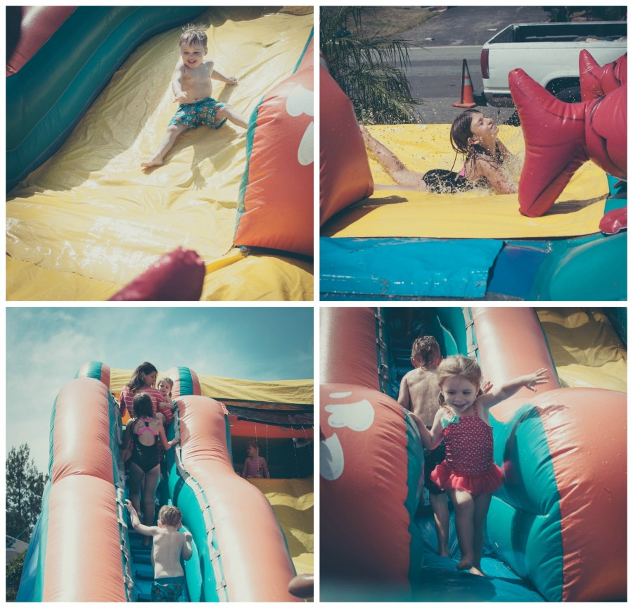 water slide Collage