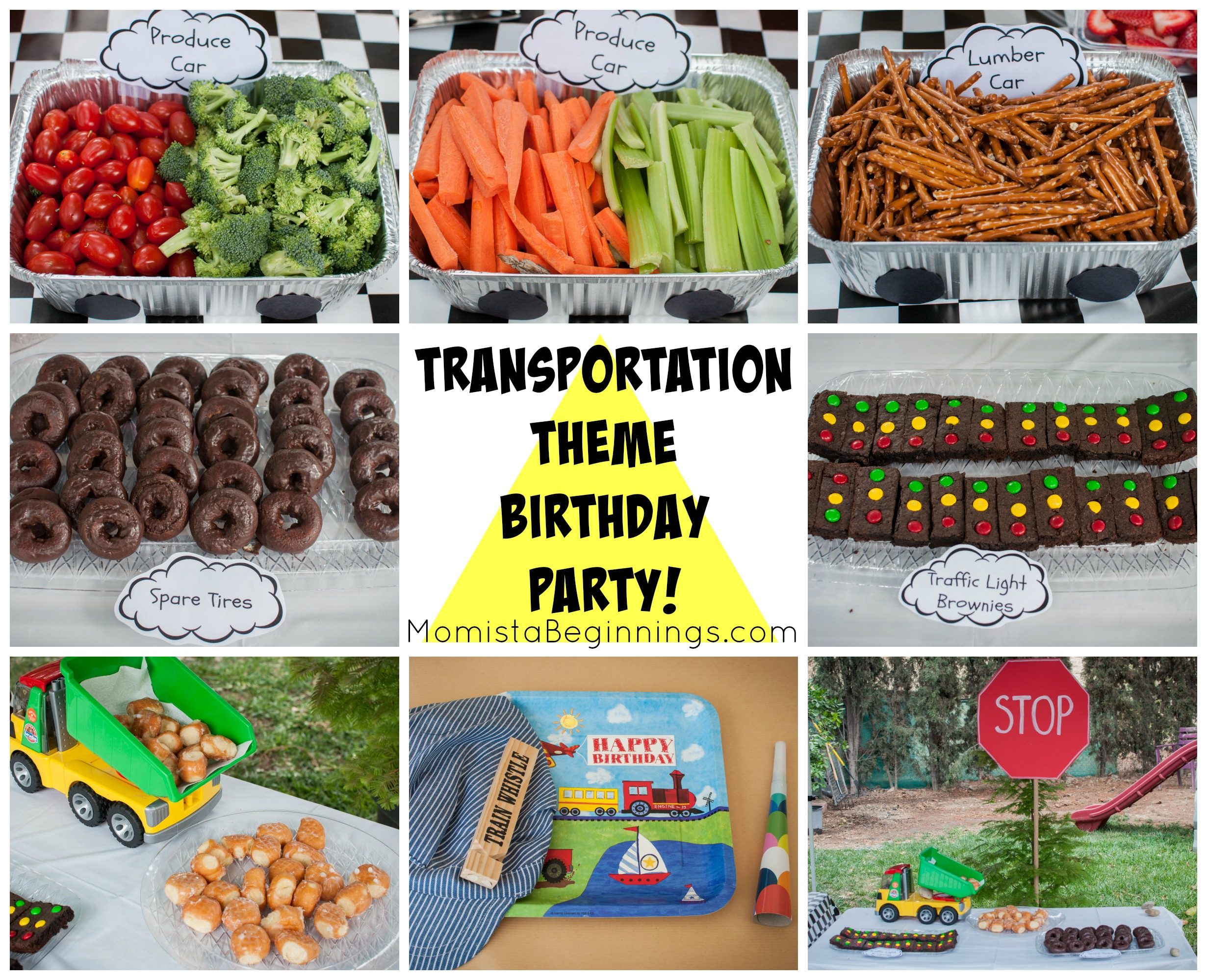 Mias 3rd Birthday Party Transportation Theme